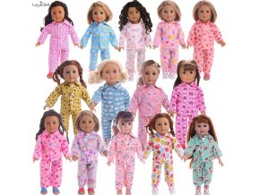 15Colors Cartoon Pajamas Nightgown Fit 18 Inch American 43 CM Baby Doll Clothes Accessories Girl s 1