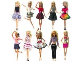 Set 10 ks oblečení na Barbie