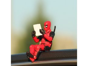 Car Ornaments Deadpool Personality Car Ornament Action Figure Sitting Model Anime Mini Doll Car Decoration Car 3