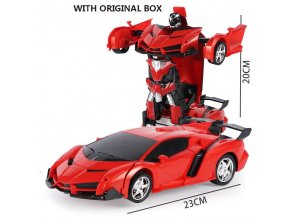 New Rc Transformer 2 In 1 Rc Car Driving Sports Cars Drive Transformation Robots Models Remote 6
