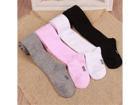 YWHUANSEN 0 6Yrs Children Spring Autumn Tights Cotton Baby Girl Pantyhose Kid Infant Knitted Collant Tights 1