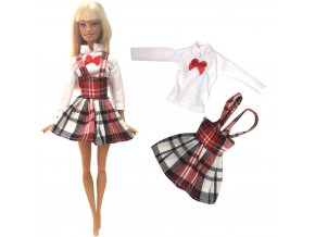 NK Newest Doll Dress Beautiful Uniform Handmade Party ClothesTop Fashion Skirt For Barbie Noble Doll Child 1
