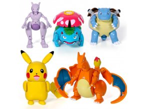 Pikachu Charizard Action Figures Charmander Squirtle transformation Capsule Doll Deformation Poke Pet Toys Pokebolas Game Balls 1