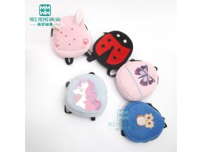 Clothes for doll fit 43cm baby new born doll Cartoon plush backpack 1 (1)
