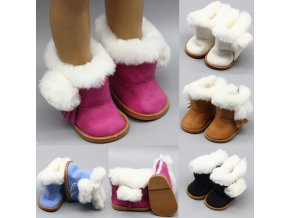 43cm Height Girls Dolls Snow Boots Shoes for 18 Doll Born Baby Doll Winter Chirstmas Shoes 1