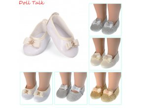 New Bow knot Doll Shoes 43cm MIni Cute Pu Leather Shoes Fit 18inch American Baby Doll 1