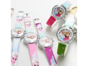 Princess Elsa Children Watches Spiderman Colorful Light Source Boys Watch Girls Kids Party Gift Clock Wrist 4