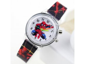 Princess Elsa Children Watches Spiderman Colorful Light Source Boys Watch Girls Kids Party Gift Clock Wrist 7