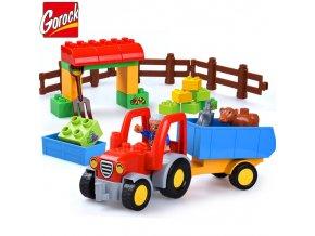 Happy Farm Large Building Blocks Sets Friends Figures Animal DIY Baseplate LegoINGLs Duplo Bricks Educational Toys 1