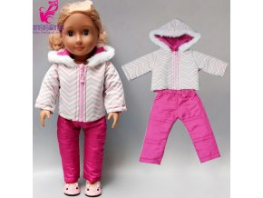 Doll clothes Baby new born Doll Jacket Pants Set 18 Inch American Dolls Clothes Winter Down 2
