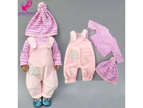 Doll clothes Baby new born Doll Jacket Pants Set 18 Inch American Dolls Clothes Winter Down 6