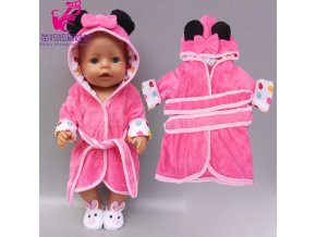 43 cm Baby Doll Clothes Winter Ski Jacket Pants Set 18 Inch Girl Doll Coat Dolls 6