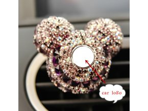 Luxury Car Logo perfume Diamond Air conditioner Outlet clip decoration Car Air Freshener Car Styling Lady 1