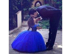 Girls Cinderella Princess Dress Elegant Blue Frocks For Summer Evening Prom Kids Dress Up Formal Party 5