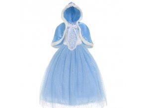 Girls Cinderella Princess Dress Elegant Blue Frocks For Summer Evening Prom Kids Dress Up Formal Party 8