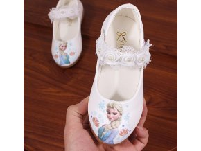 Children Shoes Kids Girls Fashion Princess Spring Cute Elsa Sandals Chaussure Enfants flower lace Flat Party 1