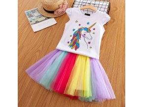 Vgiee Unicorn Girls Dress 2pc Clothes Set Baby Toddler Outfits Summer T Shirt Children Kid Dresses 2