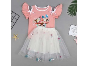 Vgiee Unicorn Girls Dress 2pc Clothes Set Baby Toddler Outfits Summer T Shirt Children Kid Dresses 7