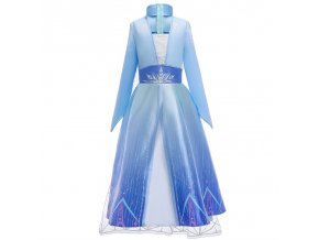 Summer Snow Queen Girls Dress Anna Elsa 2 Cosplay Costume Kids Halloween Princess Dress Fancy Children 6