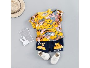 Hot Baby Boys Clothing Sets Brand Cartoon Bear Children Summer Boys Girl Clothes Kids Set Cotton 1