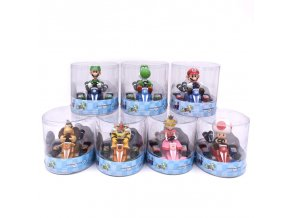 Super Mario Bros Figures 13Cm Japan Anime Luigi Dinosaurs Donkey Kong Bowser Kart Pull Back Car 1 (1)