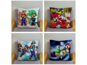 Classic Game Colorful Cartoon Super Mario Pillowcases 45 45cm Cushion Cover Soft Short Plush Decor Pillow 3
