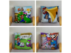 Classic Game Colorful Cartoon Super Mario Pillowcases 45 45cm Cushion Cover Soft Short Plush Decor Pillow 4