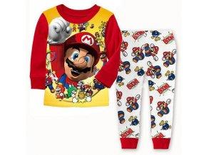 Hot Selling Baby Boys Toddler 2PCS Set Super Mario Sleepwear Nightwear Pajamas Set 1 7Y 1
