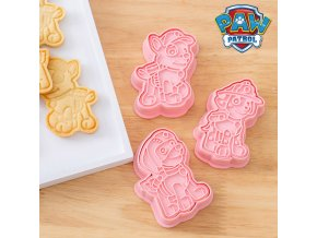 6Pcs Set Paw Patrol Cartoon DIY Christmas Cookie Cutters Tools 3d Cookie Mold Patrulla Canina Cute 0