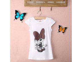 Tričko Minnie Mouse s mašlí na zádech