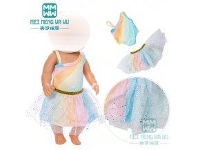 Unicorn šatičky pro American girl a Baby Born 43 cm