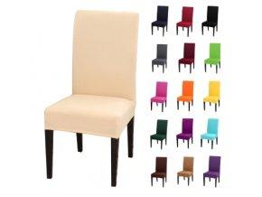 Jednobarevné potahy na židle bavlna & spandex