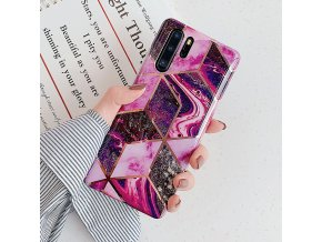 12 LOVECOM Plating Geometric Marble Phone Case For Huawei P40 Pro P30 P20 Lite Pro Mate 30