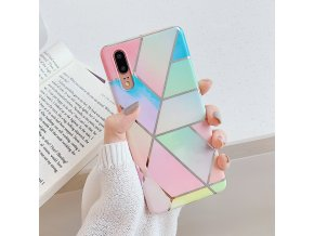 1 LOVECOM Plating Geometric Marble Phone Case For Huawei P40 Pro P30 P20 Lite Pro Mate 30