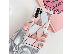 5 LOVECOM Plating Geometric Marble Phone Case For Huawei P40 Pro P30 P20 Lite Pro Mate 30