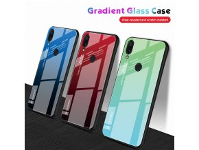 1 Tempered Glass Case for Xiaomi Redmi Note 7 6 K20 Pro Glossy Stained Gradient Colorful Case (2)