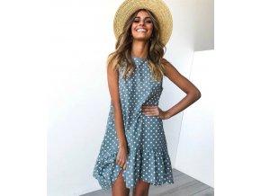 Dámské letní puntíkaté šaty