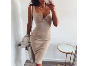 WannaThis pletené letní šaty s výstřihem na knoflíčky