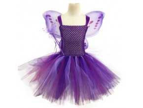2 Vestido Infantil Real 2019 Girls Tutu Dress Baby Fluffy Tulle With Butterfly Wing Halloween Kids Party