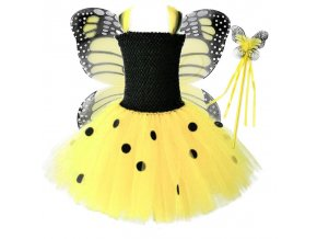 1 Vestido Infantil Real 2019 Girls Tutu Dress Baby Fluffy Tulle With Butterfly Wing Halloween Kids Party (1)