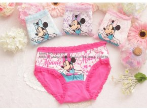 Holčičí kalhotky myška Minnie sada 5 ks