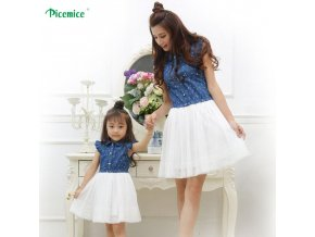 1 Mother Daughter Dresses 2020 Summer Family Clothing Mom and Daughter Dress Family Matching Outfits Dress for