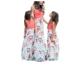 0 Mother Daughter Dresses Outfits Sleeveless Long Dress Mom And Daughter Dress Girls Mother And Me Dress (1)