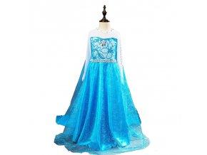 16 Girls Elsa Princess Dress Kids Flower Costume Set Snow Queen 2 Elza Children Birthday Halloween Party