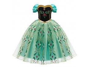 1 Girls Elsa Princess Dress Kids Flower Costume Set Snow Queen 2 Elza Children Birthday Halloween Party