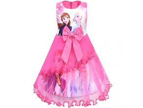 0 Ice Snow Fate 2 Cosplay Anna Elsa Girls Princess Dress Cute Cartoon Summer Mesh Girls Dress