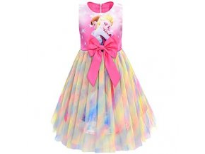 2 Ice Snow Fate 2 Cosplay Anna Elsa Girls Princess Dress Cute Cartoon Summer Mesh Girls Dress