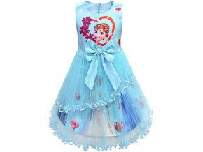 7 Ice Snow Fate 2 Cosplay Anna Elsa Girls Princess Dress Cute Cartoon Summer Mesh Girls Dress