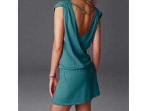 Dámské letní bavlněné šaty s ozdobou na zádech