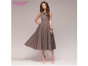 Dámské letní retro šaty s puntíky
